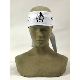 Exel floorball headband tieable white
