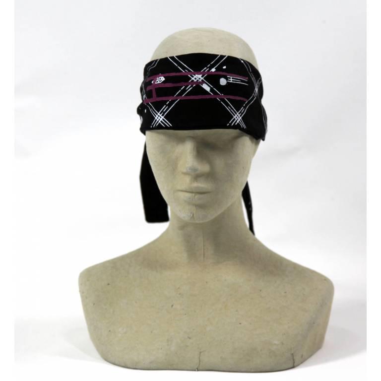 Exel floorball headband tieable black