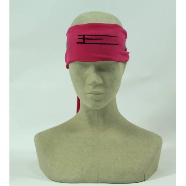 Exel headband tieable pink floorball
