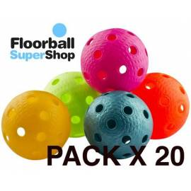 Oxdog Rotor ball white Pack Mixed 20 floorball