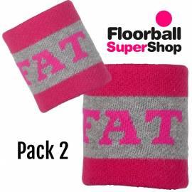 Pack 2 Wristband Fat Pipe Bugatti Pink/Grey