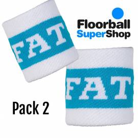 Pack 2 Wristband Fat Pipe Bugatti white/blue