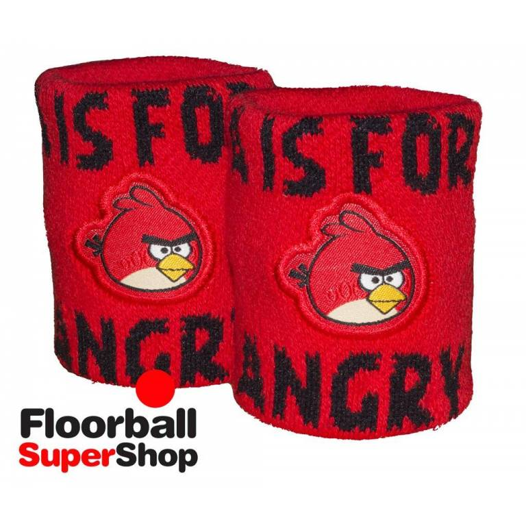 Pack 2 Muñequeras Angry Birds Fat Pipe Rojas