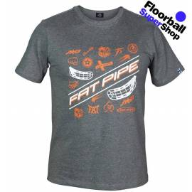 Fat Pipe JAB T-shirt Grey/Orange