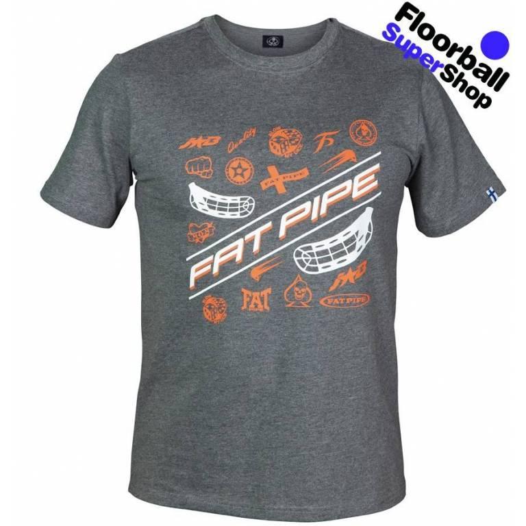 Fat Pipe JAB T-shirt Grey/Orange