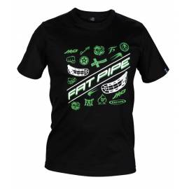 Fat Pipe Jab Camiseta Negro Verde