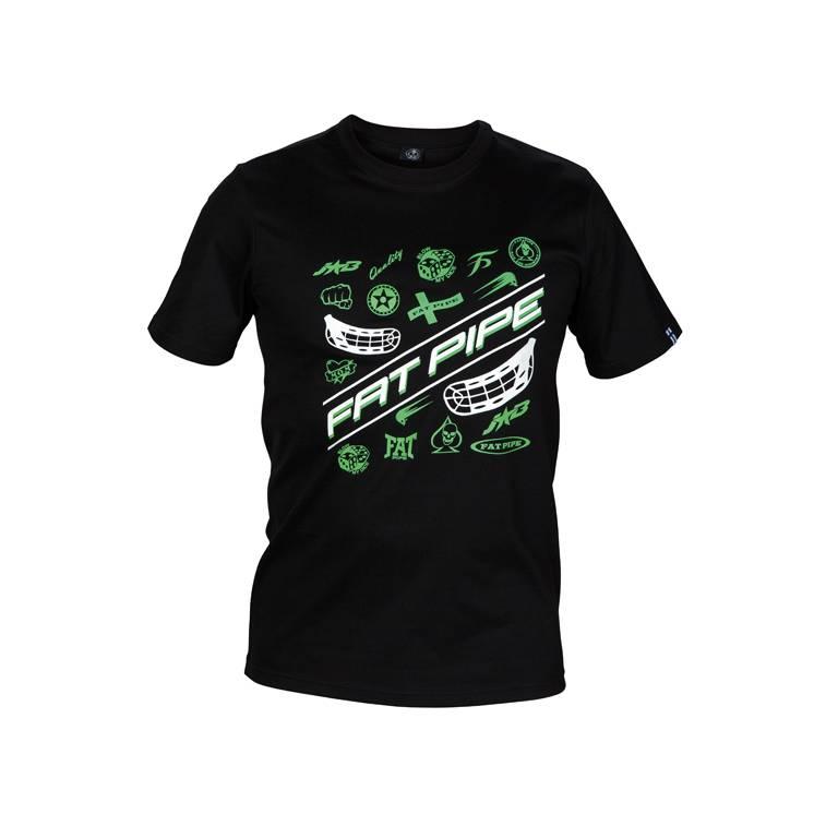 Fat Pipe Jab Camiseta Negro Verde