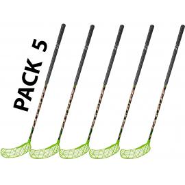 Pack 5 sticks 95 cm unihockey floorball