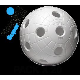 Pack de 20 Bolas Unihoc Cr8er Blanca IFF floorball