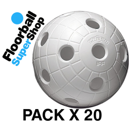 Pack of 20 Balls Unihoc CR8ER White IFF