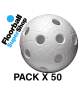 Pack of 50 Balls Unihoc CR8ER White IFF