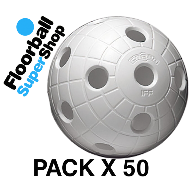 Pack de 50 Bolas Unihoc Cr8er Blanca IFF