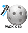 Pack of 50 Balls Unihoc CR8ER Orange IFF