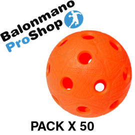 Pack of 50 Balls Unihoc Dynamic Orange IFF